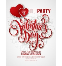 Valentines day party flyer vector