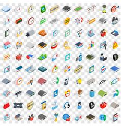 100 logistics icons set isometric 3d style vector