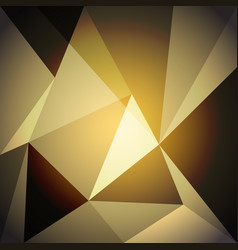 Low poly design element on gold gradient vector