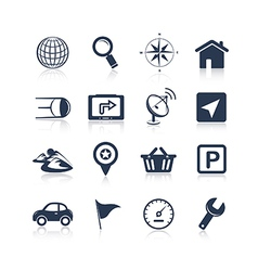 Navigation apps icons vector image