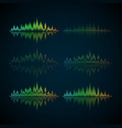 A set of musical waves in the form of equalizer vector