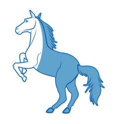 Horse on two legs animal equine image vector