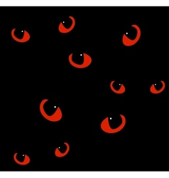 Red cat eyes in darkness background vector image