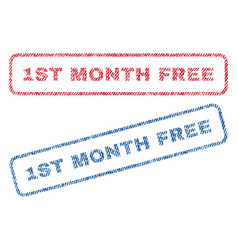 1st month free textile stamps vector