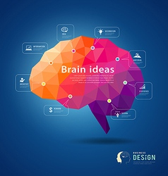 Brain idea geometric info graphics design vector