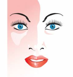Closeup face vector