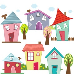 Cute houses and homes vector