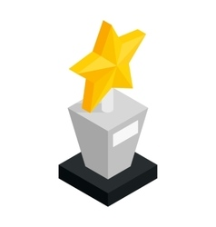 Star award isometric 3d icon vector