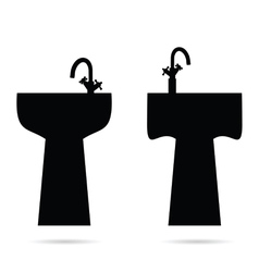 Sink in black vector