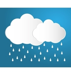 Rain and cloud icon vector
