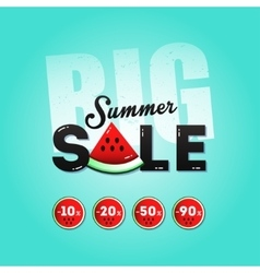 Big summer sale with a piece of watermelon vector