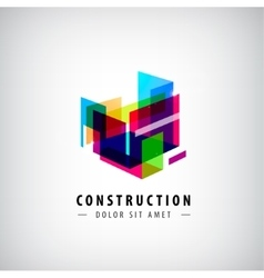 Abstract geometric construction structure vector