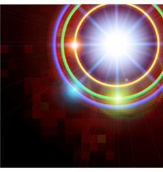 Abstract technology shining circle background vector image
