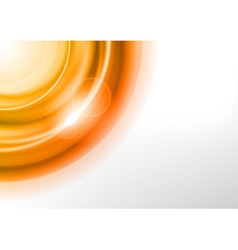 background orange light corner round vector image vector image