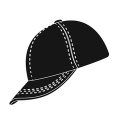 baseball cap baseball single icon in black style vector image vector image