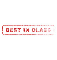 best in class rubber stamp vector image vector image