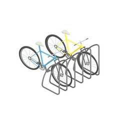 bicycle parking isometric vector image vector image