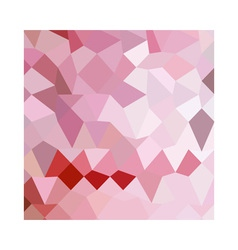 Cameo pink abstract low polygon background vector
