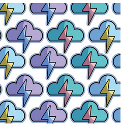 Color cloud and thunder storm weather background vector