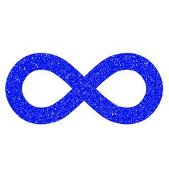 Infinity grunge icon vector