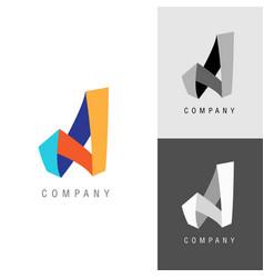 logo design element letter symbol a vector image vector image