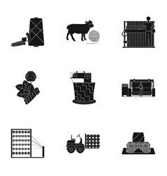 machine equipment lift and other web icon in vector image