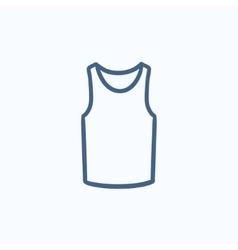 Male singlet sketch icon vector image