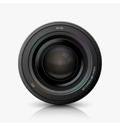 modern camera icon on white vector image