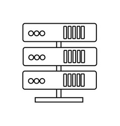 servers network line icon sign vector image vector image