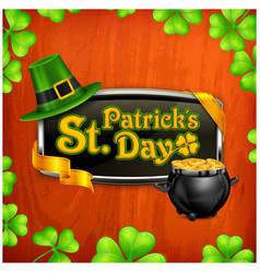 st patrick s day badge vector image vector image