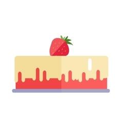 Strawberry pie in flat design vector