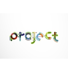 Project word letter banner vector
