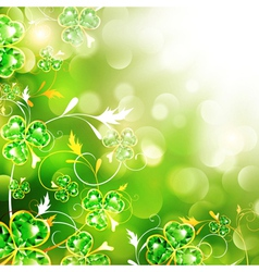 StPatrick holiday background vector image