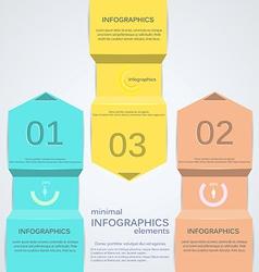 minimal infographics 2 vector image
