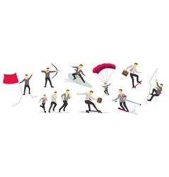 Businessman sport activities successful life vector