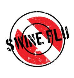 Swine flu rubber stamp vector
