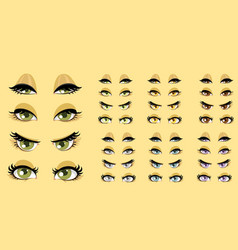 Beautiful women eyes 1 vector