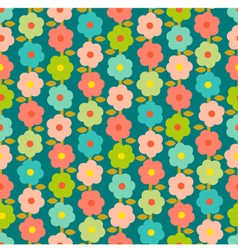 Vintage Seamless Pattern With Small Flowers vector image
