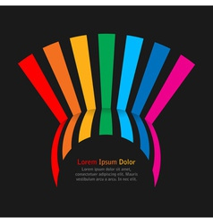 Rainbow stripes on dark background vector