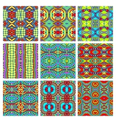 Set of different seamless colored vintage vector