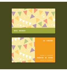 Party decorations bunting horizontal stripe frame vector