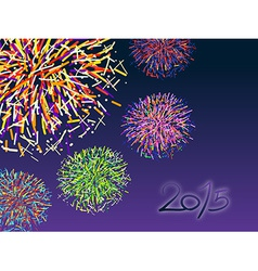 Happy new year 2015 with colorful firework vector