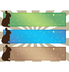 Simple easter banners vector