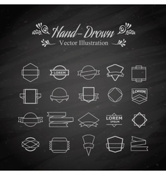 Emblem elements vector image