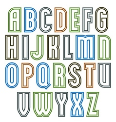 Poster elegant stripy font best for use in poster vector