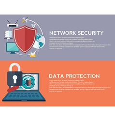 Flat computing background data protection and vector