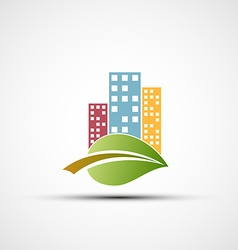 Ecological real estate vector