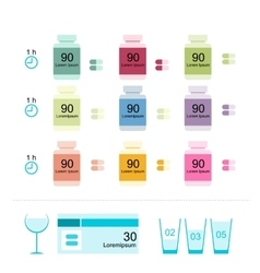 Bottles with pills for your design vector