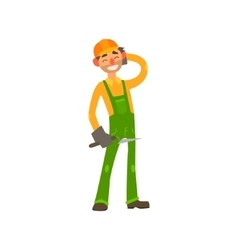 Profession Builder vector image