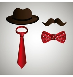 Hipster accessories design vector